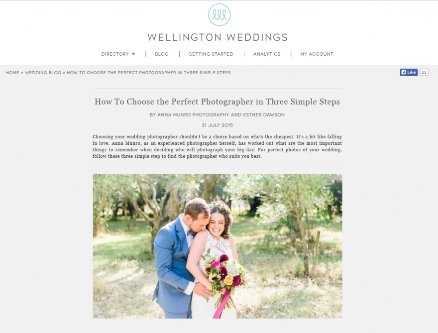 wgtn wedding feature